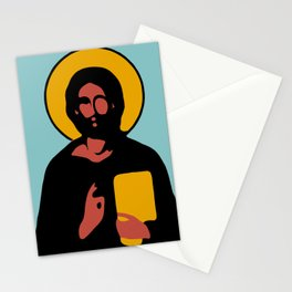 Christus Vector Blue Stationery Cards
