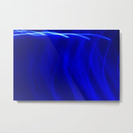 Abstract Behind Blue Eyes Metal Print
