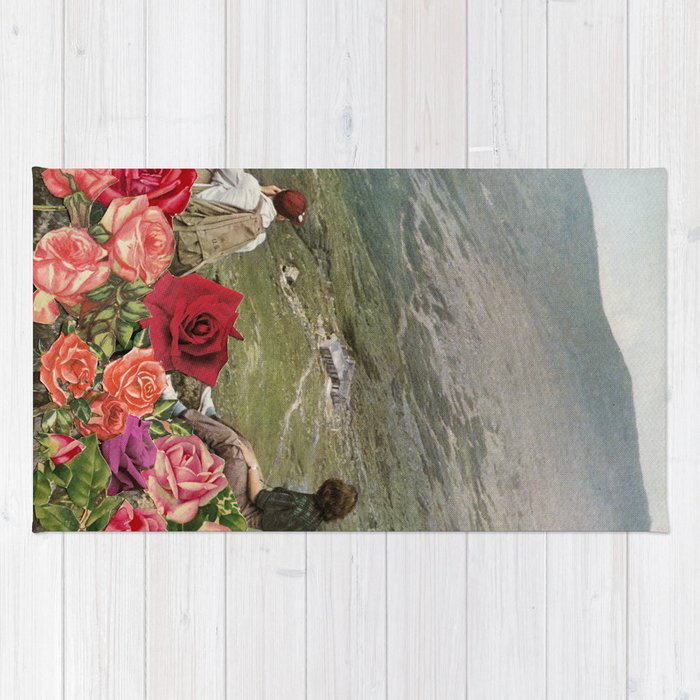Life is a Bed of Roses Rug