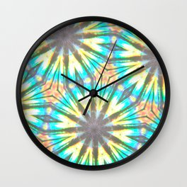 Twelve-Pointed Diagonal Stars Wall Clock