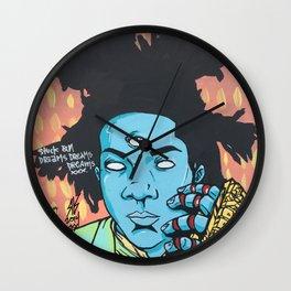 STUCK ON DREAMS (Basquiat) Wall Clock