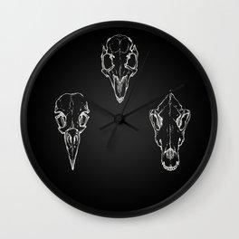 Raven, Rabbit, Wolf - Skulls Wall Clock