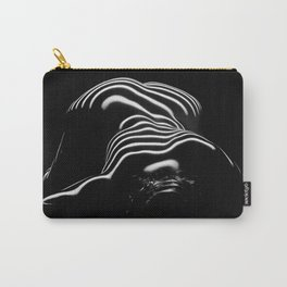 0686-AR BW Contemporary Art Nude Large Woman BBW Graceful and Strong Carry-All Pouch