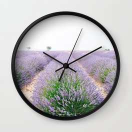 Lavender Field in Provence, Frane Wall Clock