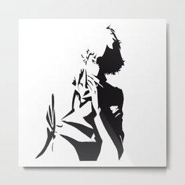 A Smoking Boy in Shadow Metal Print