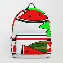 A Watermelon Picnic with Checkered tablecloth Backpack