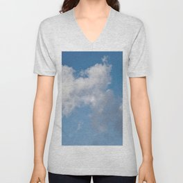 Floating cotton candy with blue Unisex V-Neck