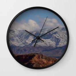 Desert Snow on Christmas - II Wall Clock