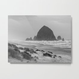 Haystack Rock at Cannon Beach Metal Print