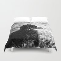 poodle Duvet Covers featuring Poodle Painting by TheWildPlum