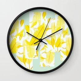 Yellowish Wall Clock