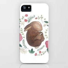 Sleeping Bunny iPhone Case