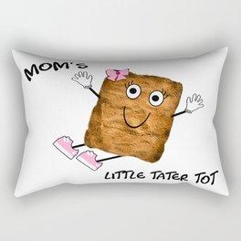 Mom's Little Tater Tot Girl Rectangular Pillow
