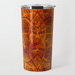 Sunburst 4x4 Mandala Travel Mug