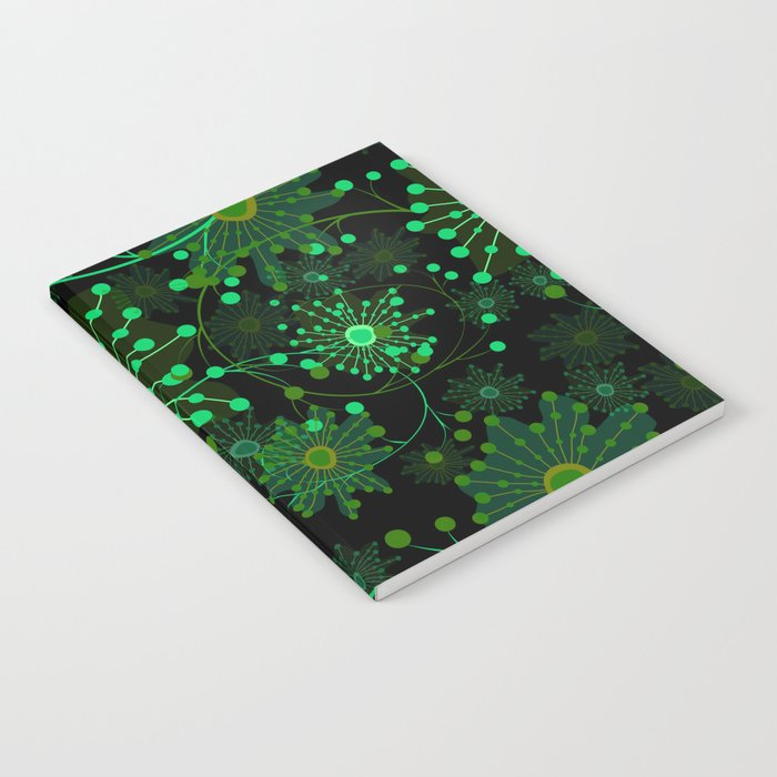 Black and green abstract pattern . Notebook