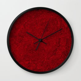 social contacts, red Wall Clock
