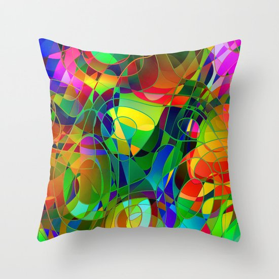 Bouquet Abstract Throw Pillow