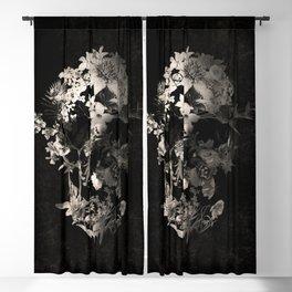 Spring Skull Monochrome Blackout Curtain