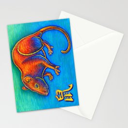 Chinese Zodiac Year of the Rat Stationery Cards