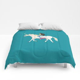 To the Land of Mermaids and Unicorns Comforters
