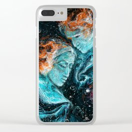 Across the Space Clear iPhone Case