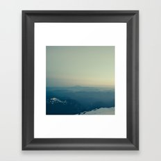 St Helens from Rainier Framed Art Print