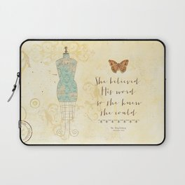 She Believed His Word Laptop Sleeve