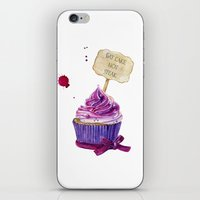 cake iPhone & iPod Skins featuring Cake by Iskoskikh Sveta