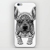 frenchie iPhone & iPod Skins featuring Frenchie by BIOWORKZ