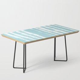 Shibori Stripe Seafoam Coffee Table
