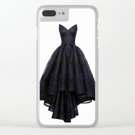 little black dress fashion illustration Clear iPhone Case