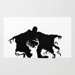 Deer patronus and deatheater Rug