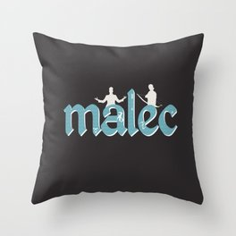 Malec   Shadowhunters Throw Pillow