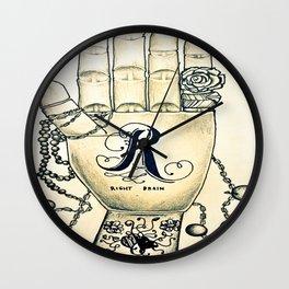 Right Hand inthe Brain Wall Clock