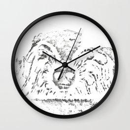 Black Headstone Wall Clock