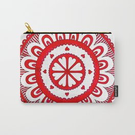 Love#5 - Red Heart Pattern Carry-All Pouch