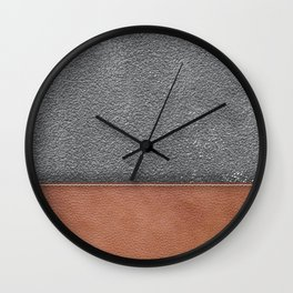 concrete and leather  Wall Clock