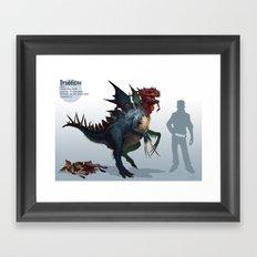 Pokemon-Druddigon Framed Art Print