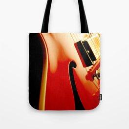 Jazz Guitar Closeup Tote Bag