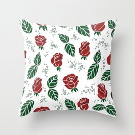 Background with roses Throw Pillow