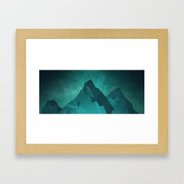 Illustration painting the blue moutain Framed Art Print