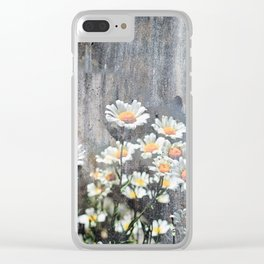 Daisies in Distress Clear iPhone Case