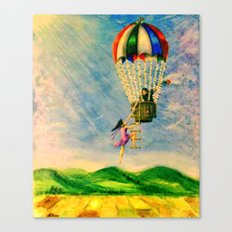 BALLOON LOVE: Flying Away Canvas Print
