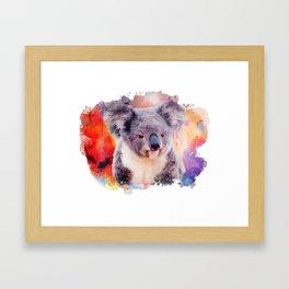Watercolor Koala Framed Art Print