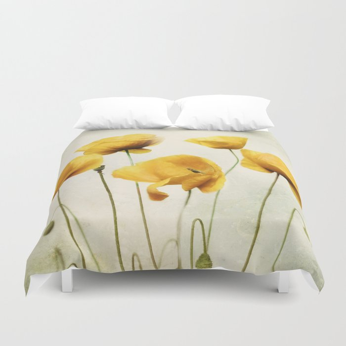 Yellow Poppies Duvet Cover