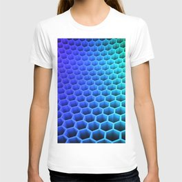 3D Colorful Honey Comb Hexagon Pattern Ultra HD T-shirt
