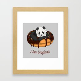 I Love Doughnuts Framed Art Print