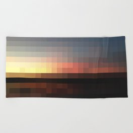 Pixel Beach Towel