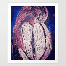 The sad girl Art Print