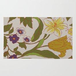 flower knit Rug